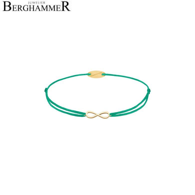Filo Armband Textil Grasgrün Infinity 750 Gold gelbgold 21203427