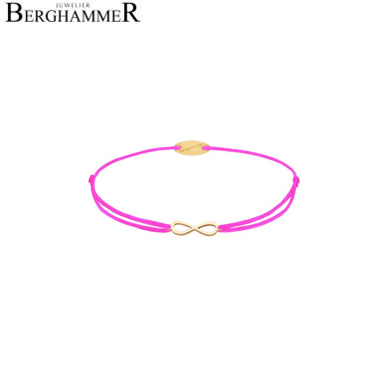 Filo Armband Textil Neon-Pink Infinity 750 Gold gelbgold 21203432