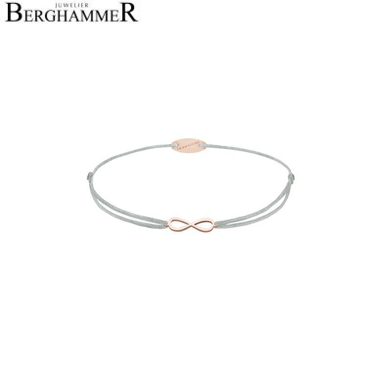 Filo Armband Textil Hellgrau Infinity 750 Gold roségold 21203443