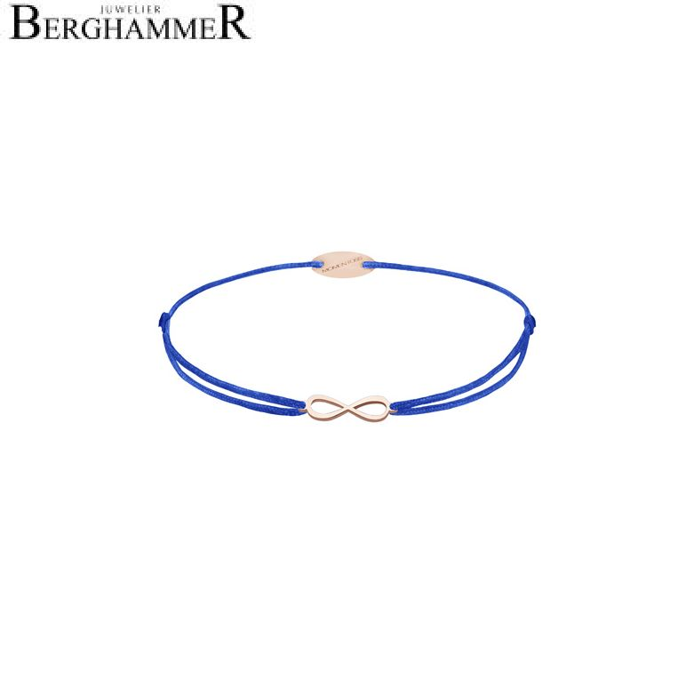 Filo Armband Textil Blitzblau Infinity 750 Gold roségold 21203447