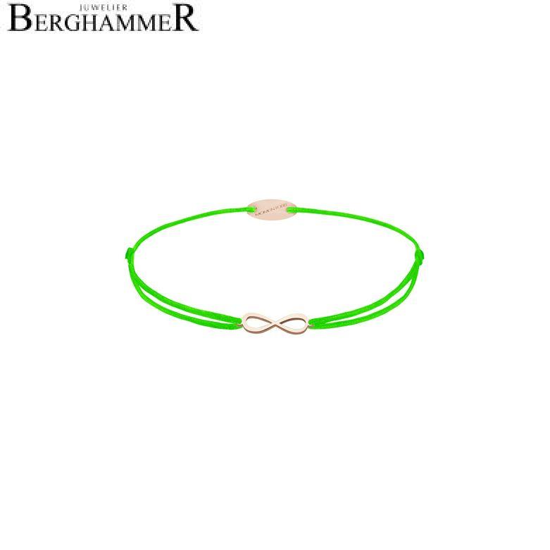 Filo Armband Textil Neon-Grün Infinity 750 Gold roségold 21203451