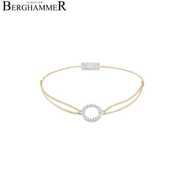 Filo Armband Textil Champagne Kreis 925 Silber rhodiniert 21203459