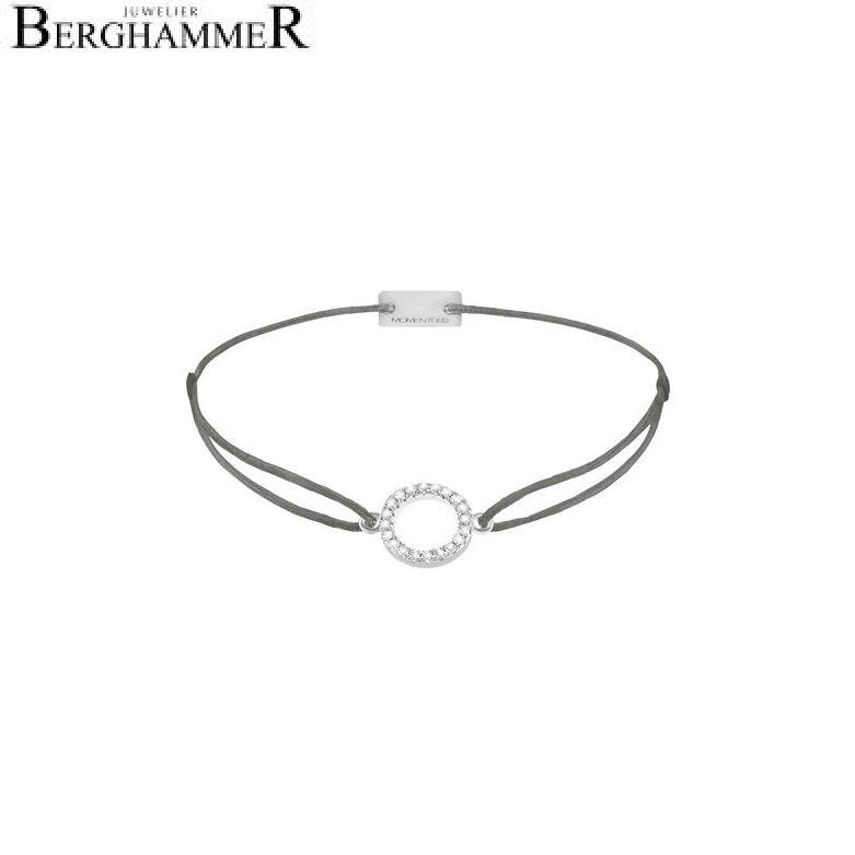 Filo Armband Textil Anthrazit Kreis 925 Silber rhodiniert 21203466