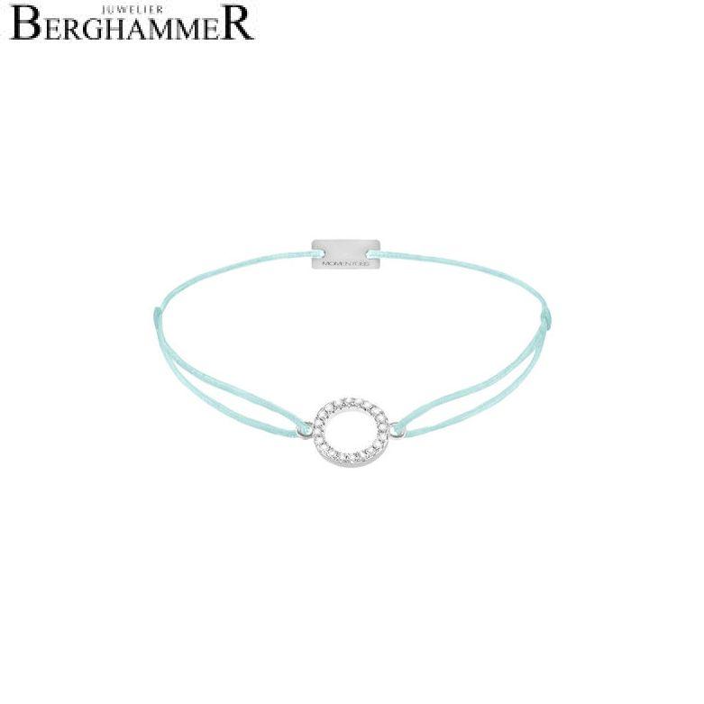 Filo Armband Textil Mint Kreis 925 Silber rhodiniert 21203468
