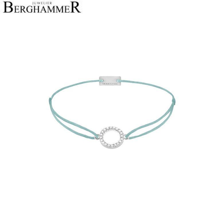 Filo Armband Textil Türkis Kreis 925 Silber rhodiniert 21203469
