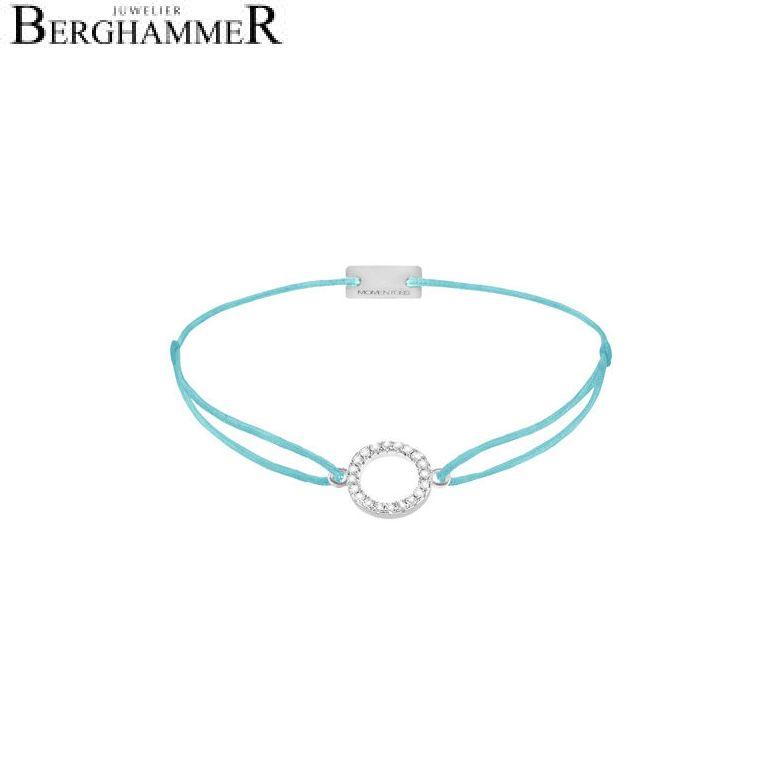 Filo Armband Textil Hellblau Kreis 925 Silber rhodiniert 21203470