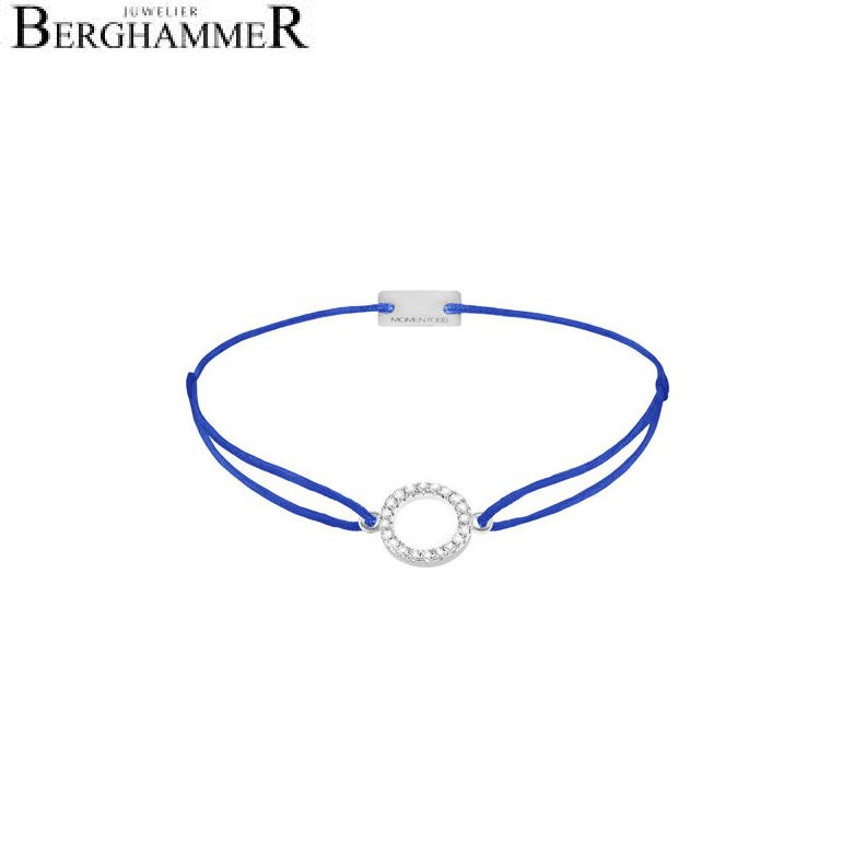 Filo Armband Textil Blitzblau Kreis 925 Silber rhodiniert 21203471