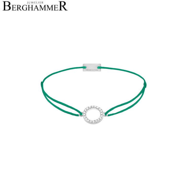 Filo Armband Textil Grasgrün Kreis 925 Silber rhodiniert 21203474