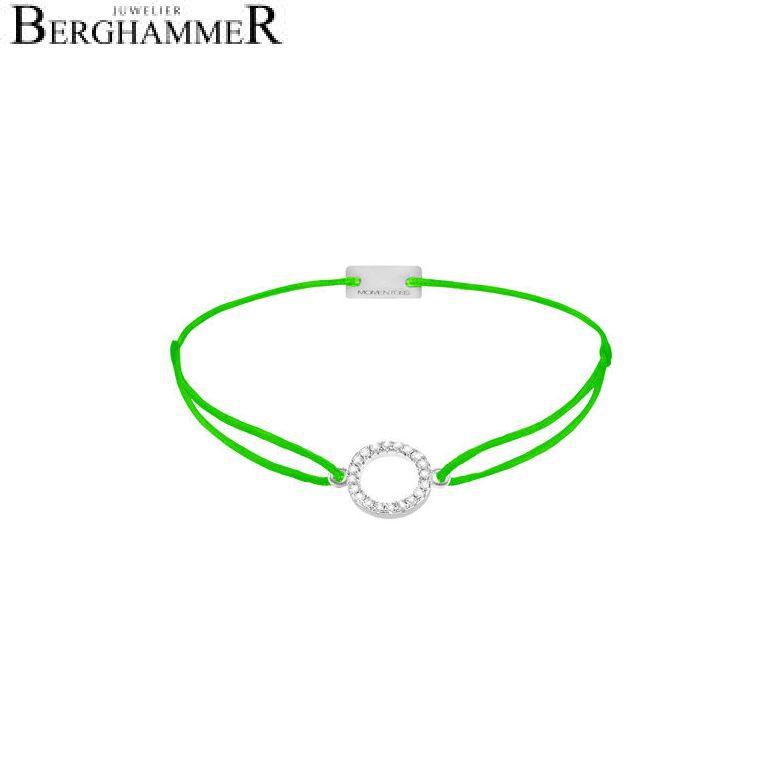 Filo Armband Textil Neon-Grün Kreis 925 Silber rhodiniert 21203475