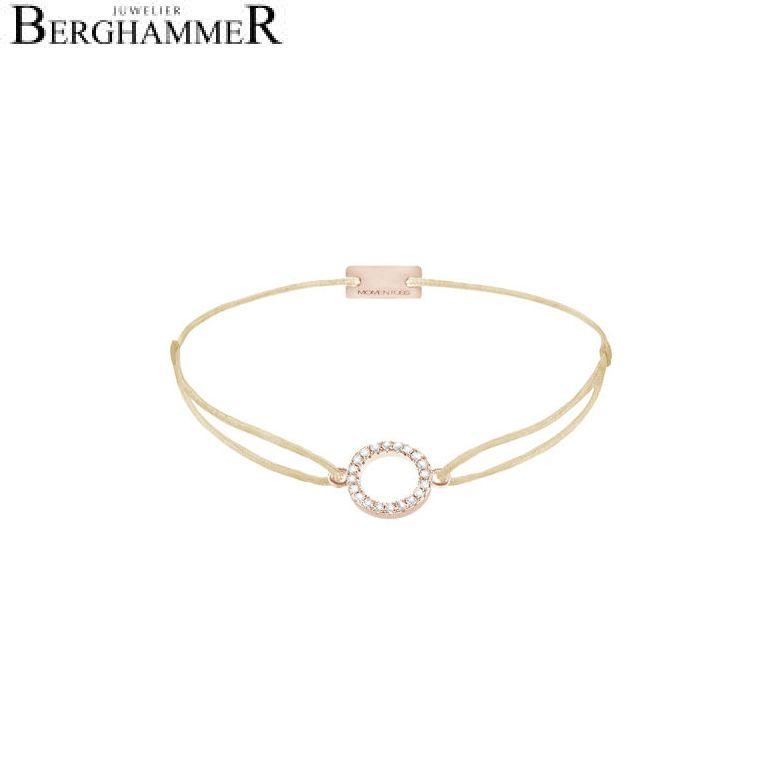 Filo Armband Textil Champagne Kreis 925 Silber roségold vergoldet 21203483