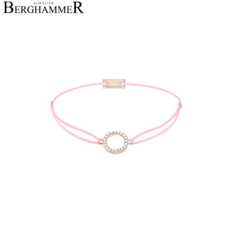 Filo Armband Textil Rosa Kreis 925 Silber roségold vergoldet 21203484