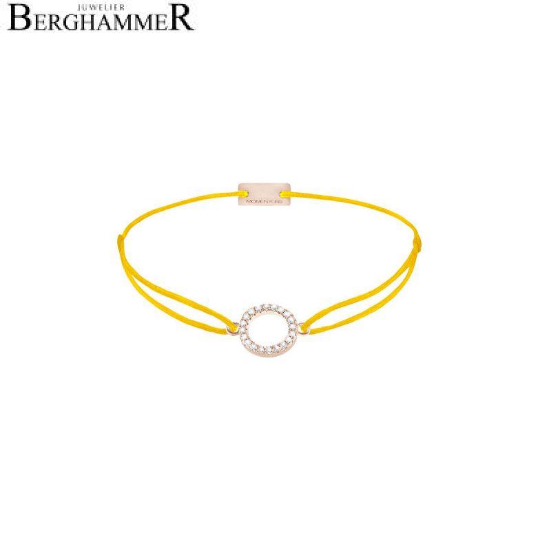 Filo Armband Textil Gelb Kreis 925 Silber roségold vergoldet 21203486