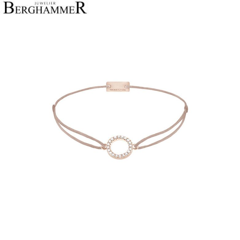 Filo Armband Textil Beige Kreis 925 Silber roségold vergoldet 21203487