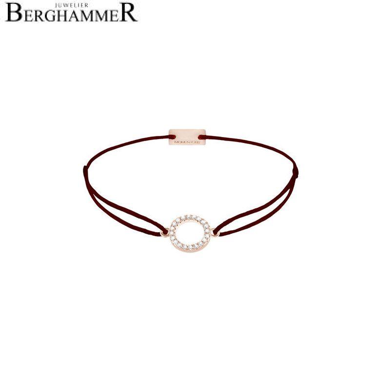 Filo Armband Textil Braun Kreis 925 Silber roségold vergoldet 21203488