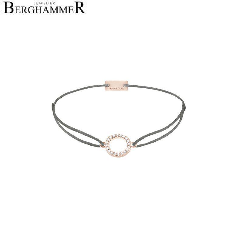 Filo Armband Textil Anthrazit Kreis 925 Silber roségold vergoldet 21203490