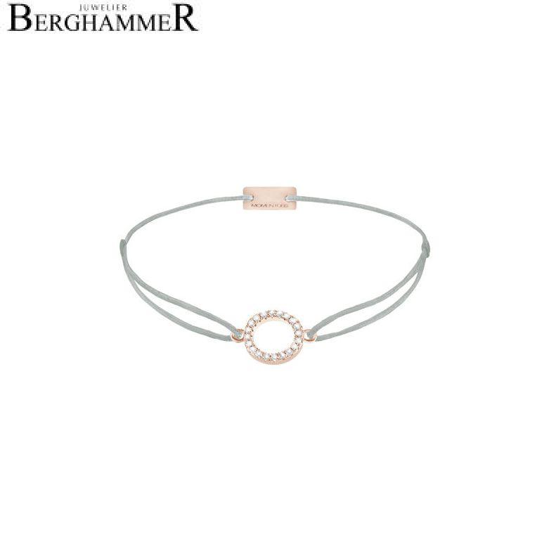 Filo Armband Textil Hellgrau Kreis 925 Silber roségold vergoldet 21203491