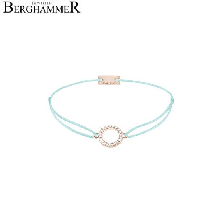 Filo Armband Textil Mint Kreis 925 Silber roségold vergoldet 21203492