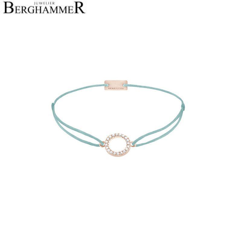 Filo Armband Textil Türkis Kreis 925 Silber roségold vergoldet 21203493