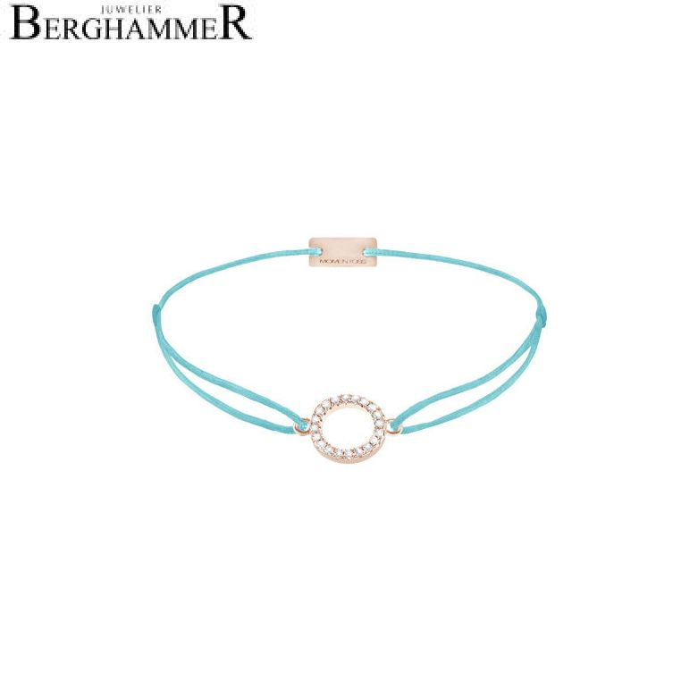 Filo Armband Textil Hellblau Kreis 925 Silber roségold vergoldet 21203494