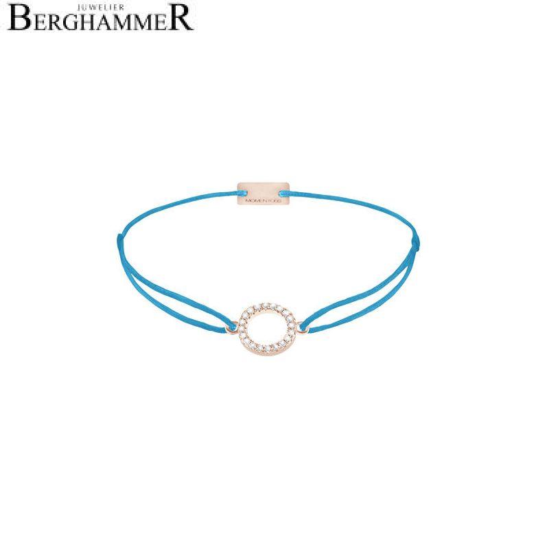 Filo Armband Textil Petrol Kreis 925 Silber roségold vergoldet 21203497