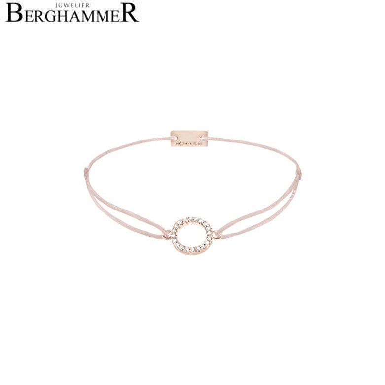 Filo Armband Textil Hellrosa Kreis 925 Silber roségold vergoldet 21203500
