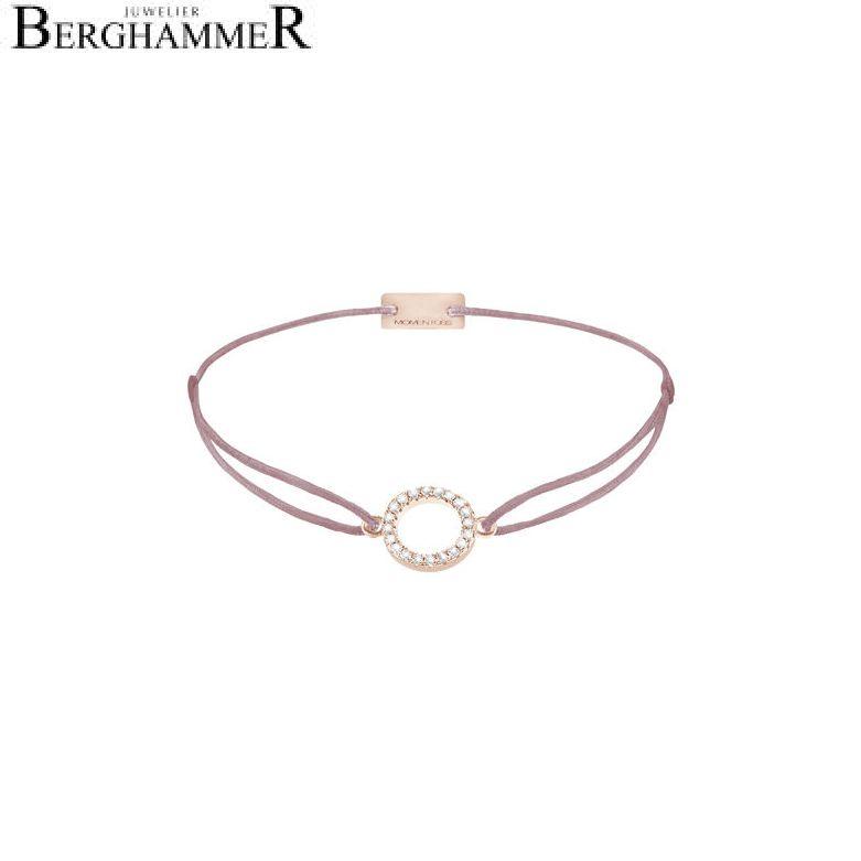Filo Armband Textil Camel Kreis 925 Silber roségold vergoldet 21203501