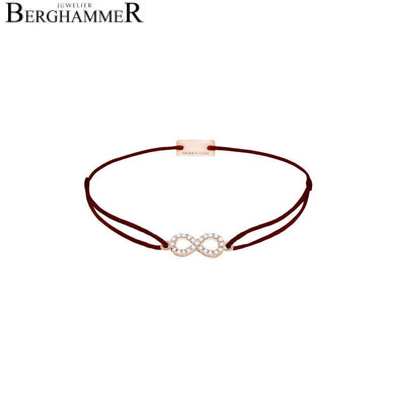Filo Armband Textil Braun Infinity 925 Silber roségold vergoldet 21203502
