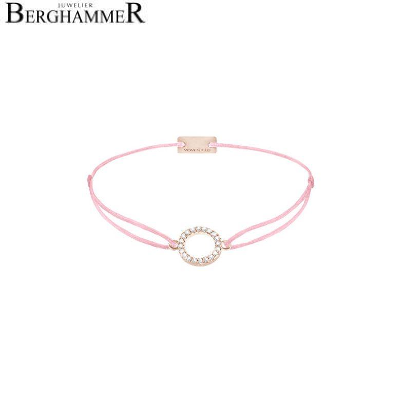 Filo Armband Textil Fuchsia Kreis 925 Silber roségold vergoldet 21203503