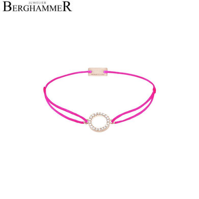 Filo Armband Textil Neon-Pink Kreis 925 Silber roségold vergoldet 21203504