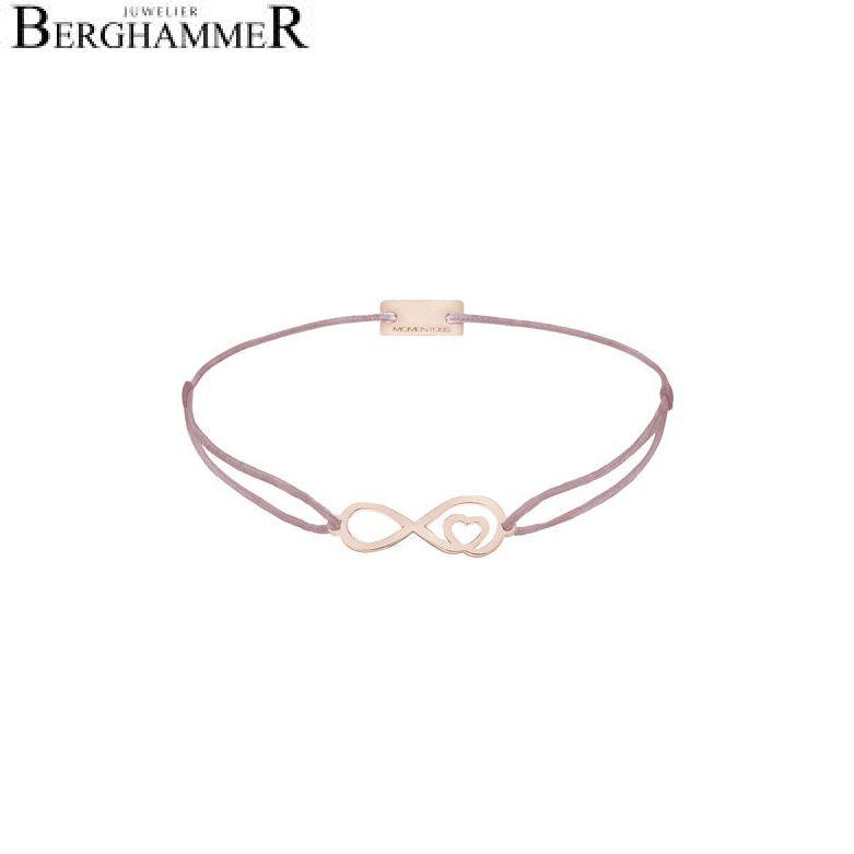 Filo Armband Textil Camel Infinity-Herz 925 Silber roségold vergoldet 21203888