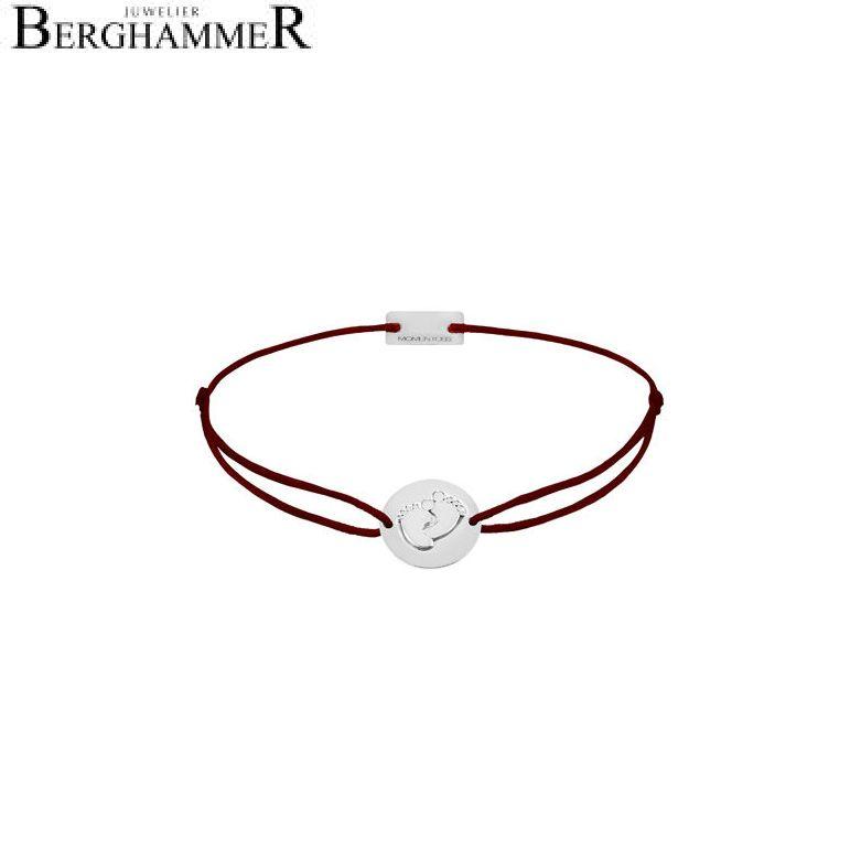 Filo Armband Textil Braun 925 Silber rhodiniert 21203899