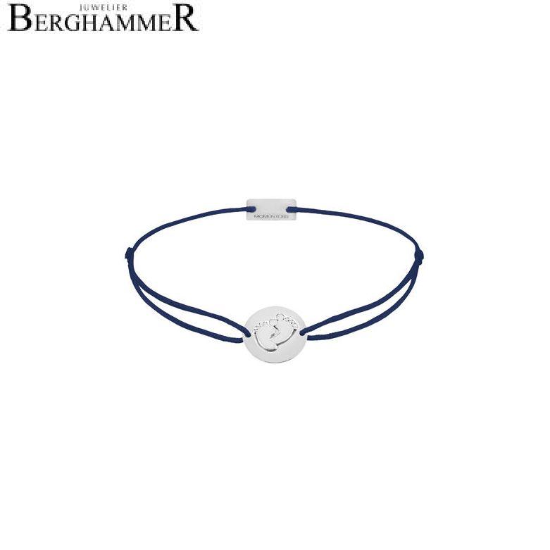 Filo Armband Textil Dunkelblau 925 Silber rhodiniert 21203907
