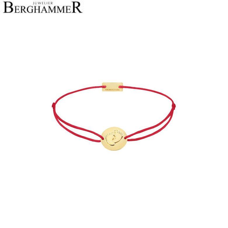 Filo Armband Textil Rot 925 Silber gelbgold vergoldet 21203915