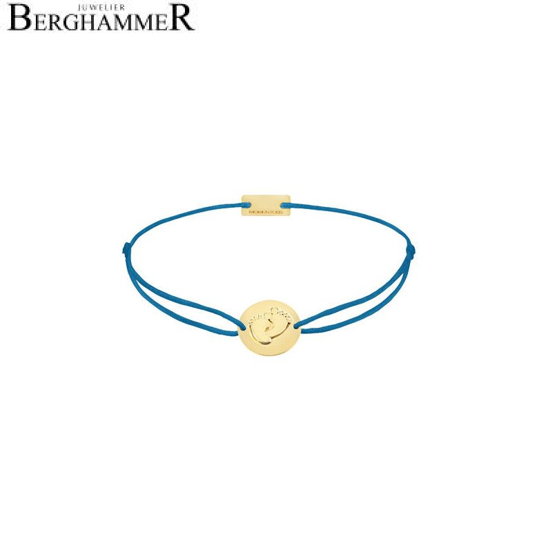 Filo Armband Textil Petrol 925 Silber gelbgold vergoldet 21203931