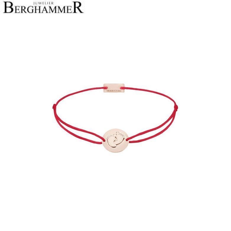 Filo Armband Textil Rot 925 Silber roségold vergoldet 21203939