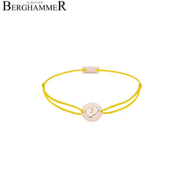 Filo Armband Textil Gelb 925 Silber roségold vergoldet 21203944