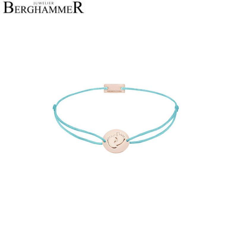 Filo Armband Textil Hellblau 925 Silber roségold vergoldet 21203952