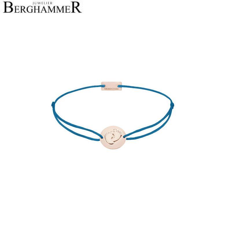 Filo Armband Textil Petrol 925 Silber roségold vergoldet 21203955