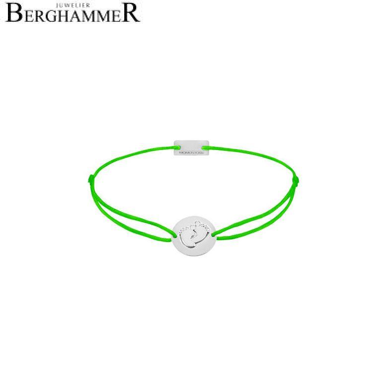 Filo Armband Textil Neon-Grün 925 Silber rhodiniert 21203963