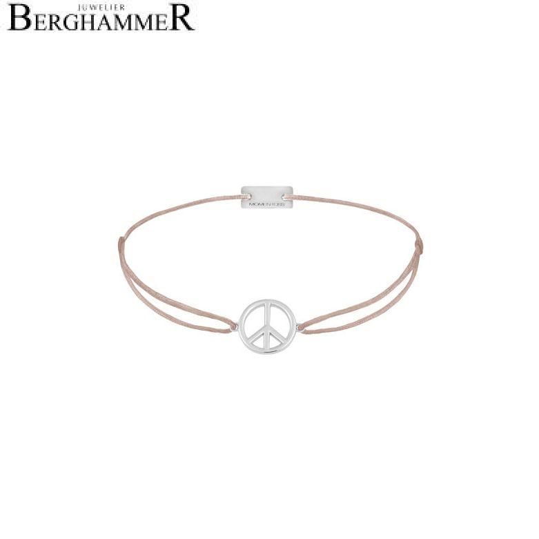 Filo Armband Textil Beige Peace 925 Silber rhodiniert 21204066