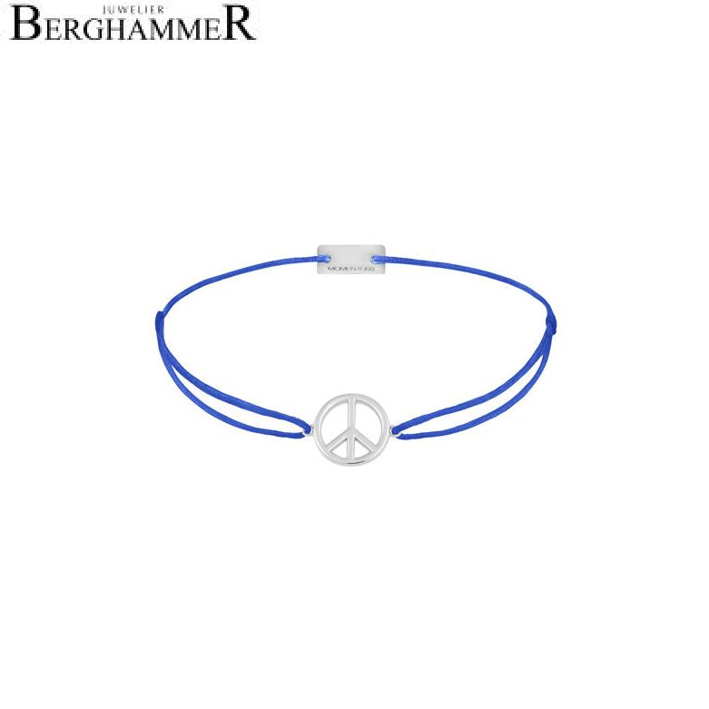 Filo Armband Textil Blitzblau Peace 925 Silber rhodiniert 21204074