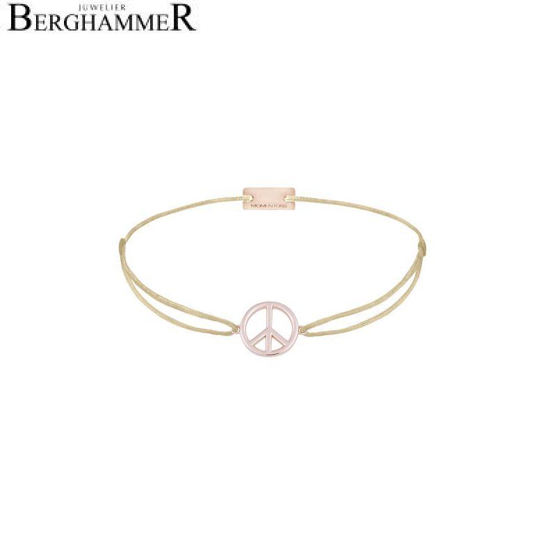 Filo Armband Textil Champagne Peace 925 Silber roségold vergoldet 21204086