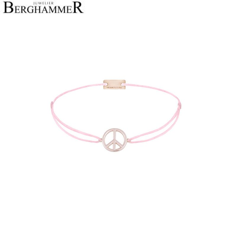 Filo Armband Textil Rosa Peace 925 Silber roségold vergoldet 21204087