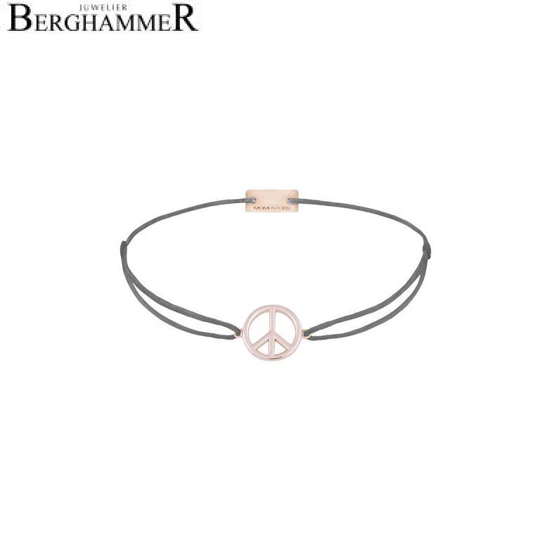Filo Armband Textil Anthrazit Peace 925 Silber roségold vergoldet 21204093