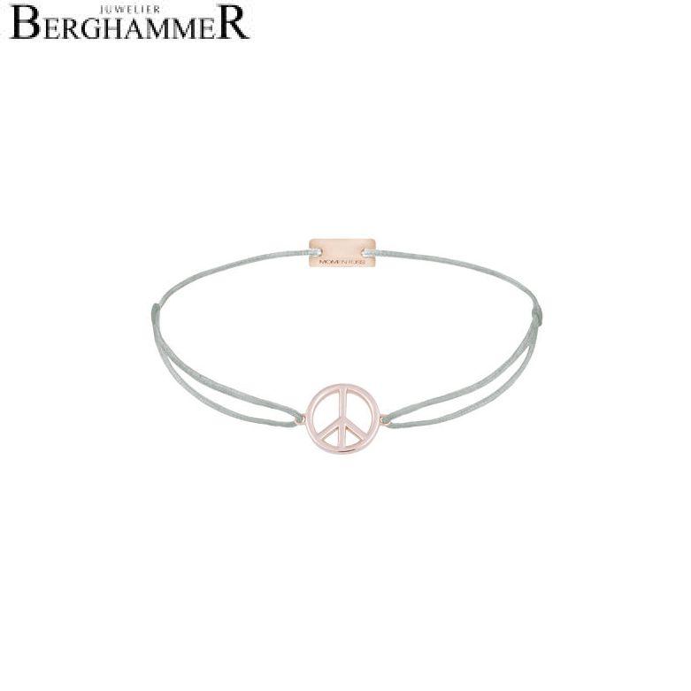 Filo Armband Textil Hellgrau Peace 925 Silber roségold vergoldet 21204094