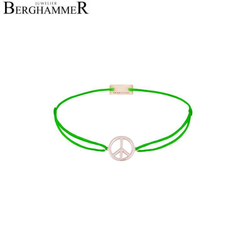 Filo Armband Textil Neon-Grün Peace 925 Silber roségold vergoldet 21204102