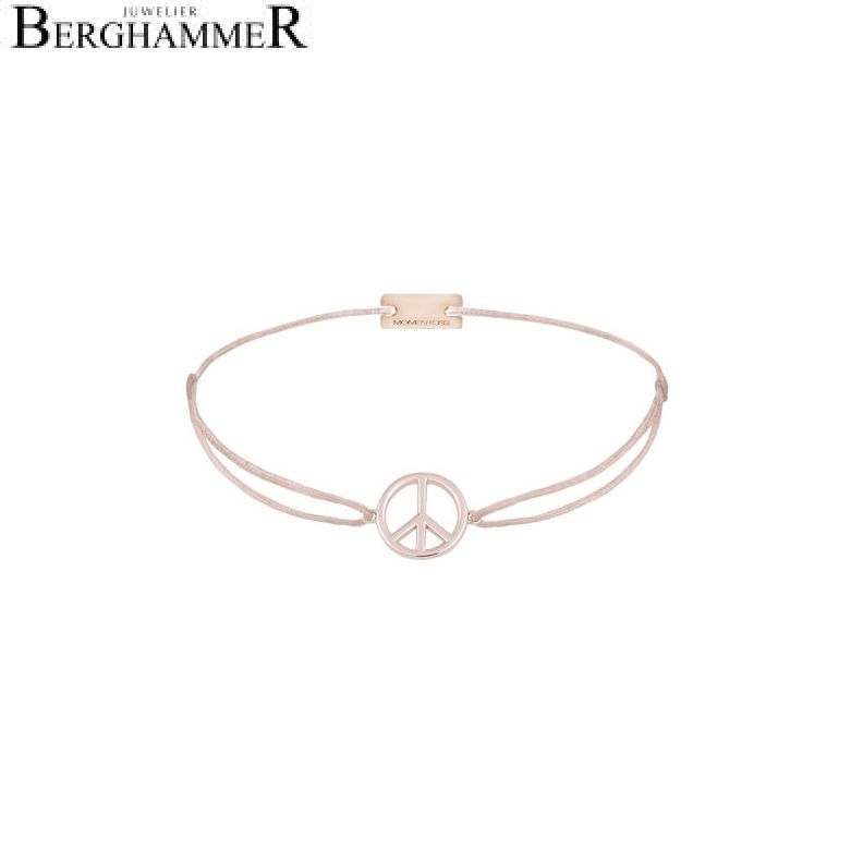 Filo Armband Textil Hellrosa Peace 925 Silber roségold vergoldet 21204103