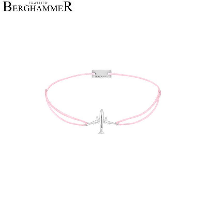 Filo Armband Textil Rosa Flugzeug 925 Silber rhodiniert 21204111