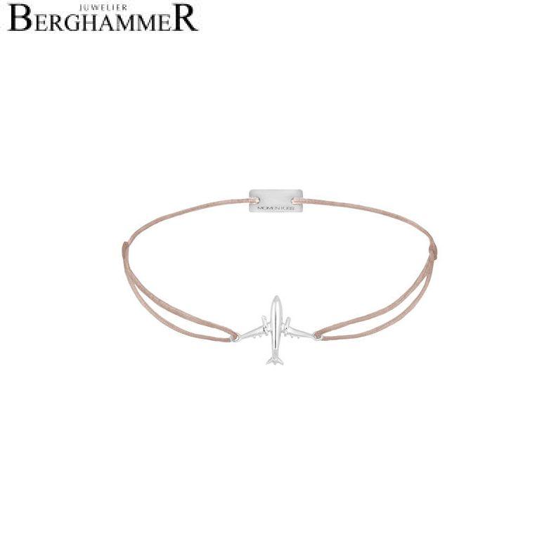 Filo Armband Textil Beige Flugzeug 925 Silber rhodiniert 21204114