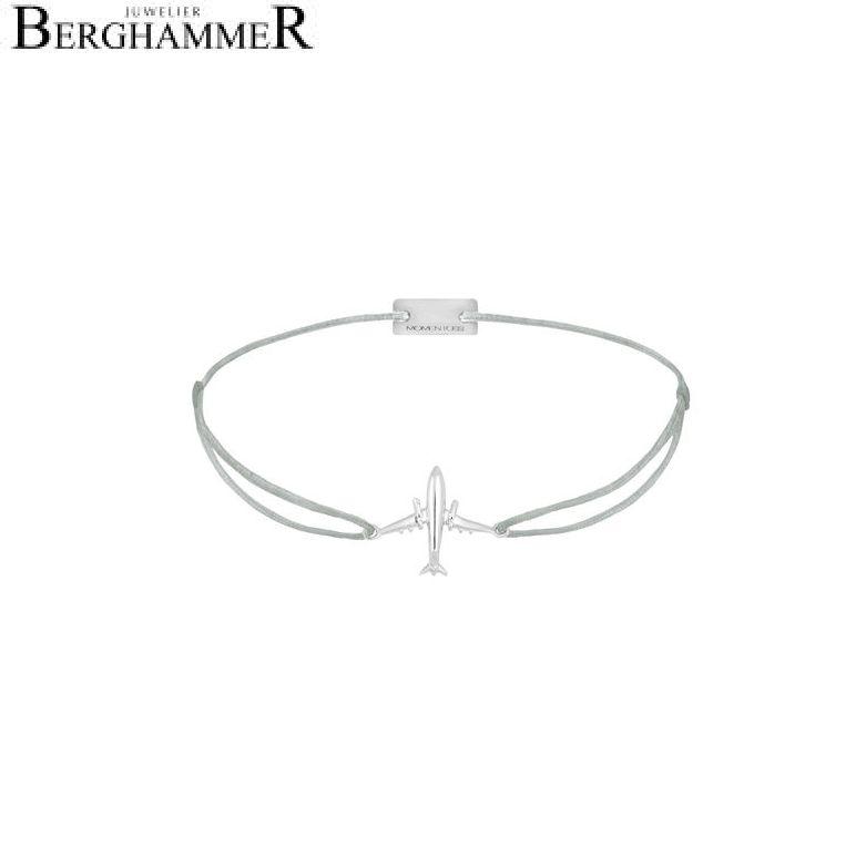 Filo Armband Textil Hellgrau Flugzeug 925 Silber rhodiniert 21204118